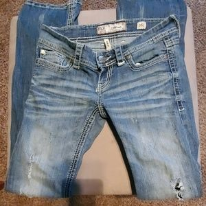 Distressed bootcut BKE jeans